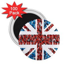 Fun And Unique Illustration Of The Uk Union Jack Flag Made Up Of Cartoon Ladybugs 2.25  Magnets (100 pack)