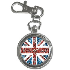Fun And Unique Illustration Of The Uk Union Jack Flag Made Up Of Cartoon Ladybugs Key Chain Watches