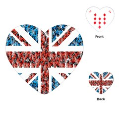 Fun And Unique Illustration Of The Uk Union Jack Flag Made Up Of Cartoon Ladybugs Playing Cards (heart)