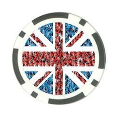 Fun And Unique Illustration Of The Uk Union Jack Flag Made Up Of Cartoon Ladybugs Poker Chip Card Guard