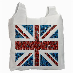 Fun And Unique Illustration Of The Uk Union Jack Flag Made Up Of Cartoon Ladybugs Recycle Bag (Two Side)