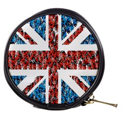 Fun And Unique Illustration Of The Uk Union Jack Flag Made Up Of Cartoon Ladybugs Mini Makeup Bags