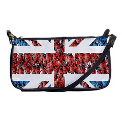 Fun And Unique Illustration Of The Uk Union Jack Flag Made Up Of Cartoon Ladybugs Shoulder Clutch Bags