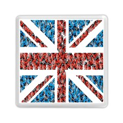 Fun And Unique Illustration Of The Uk Union Jack Flag Made Up Of Cartoon Ladybugs Memory Card Reader (square)