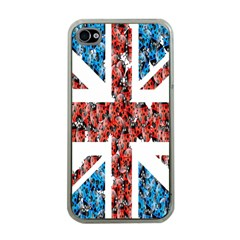 Fun And Unique Illustration Of The Uk Union Jack Flag Made Up Of Cartoon Ladybugs Apple iPhone 4 Case (Clear)