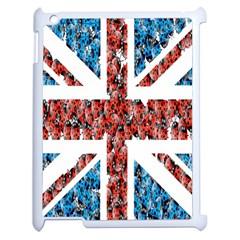 Fun And Unique Illustration Of The Uk Union Jack Flag Made Up Of Cartoon Ladybugs Apple Ipad 2 Case (white)