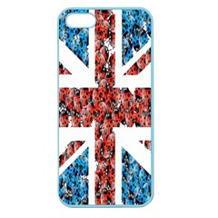 Fun And Unique Illustration Of The Uk Union Jack Flag Made Up Of Cartoon Ladybugs Apple Seamless iPhone 5 Case (Color)