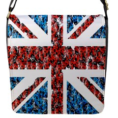 Fun And Unique Illustration Of The Uk Union Jack Flag Made Up Of Cartoon Ladybugs Flap Messenger Bag (S)
