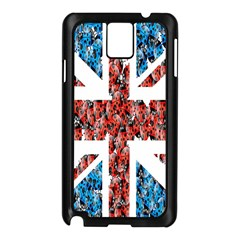 Fun And Unique Illustration Of The Uk Union Jack Flag Made Up Of Cartoon Ladybugs Samsung Galaxy Note 3 N9005 Case (black)