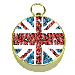 Fun And Unique Illustration Of The Uk Union Jack Flag Made Up Of Cartoon Ladybugs Gold Compasses