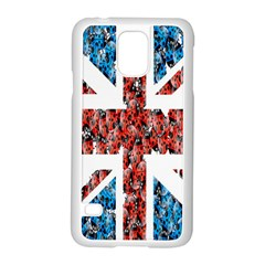Fun And Unique Illustration Of The Uk Union Jack Flag Made Up Of Cartoon Ladybugs Samsung Galaxy S5 Case (white)