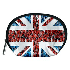 Fun And Unique Illustration Of The Uk Union Jack Flag Made Up Of Cartoon Ladybugs Accessory Pouches (medium)