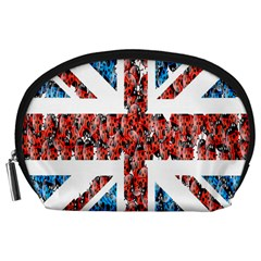 Fun And Unique Illustration Of The Uk Union Jack Flag Made Up Of Cartoon Ladybugs Accessory Pouches (large)