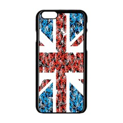 Fun And Unique Illustration Of The Uk Union Jack Flag Made Up Of Cartoon Ladybugs Apple Iphone 6/6s Black Enamel Case