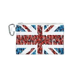 Fun And Unique Illustration Of The Uk Union Jack Flag Made Up Of Cartoon Ladybugs Canvas Cosmetic Bag (s)
