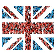 Fun And Unique Illustration Of The Uk Union Jack Flag Made Up Of Cartoon Ladybugs Double Sided Flano Blanket (small)