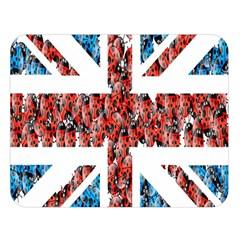 Fun And Unique Illustration Of The Uk Union Jack Flag Made Up Of Cartoon Ladybugs Double Sided Flano Blanket (large)