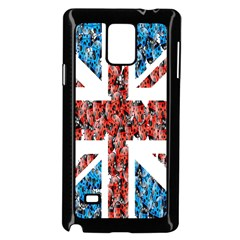 Fun And Unique Illustration Of The Uk Union Jack Flag Made Up Of Cartoon Ladybugs Samsung Galaxy Note 4 Case (Black)