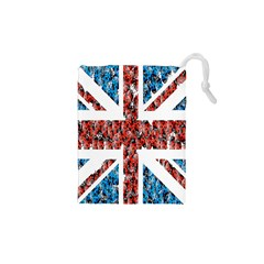 Fun And Unique Illustration Of The Uk Union Jack Flag Made Up Of Cartoon Ladybugs Drawstring Pouches (xs)