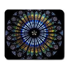 Stained Glass Rose Window In France s Strasbourg Cathedral Large Mousepads