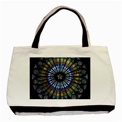 Stained Glass Rose Window In France s Strasbourg Cathedral Basic Tote Bag