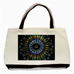 Stained Glass Rose Window In France s Strasbourg Cathedral Basic Tote Bag Front