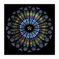 Stained Glass Rose Window In France s Strasbourg Cathedral Medium Glasses Cloth (2 Side)