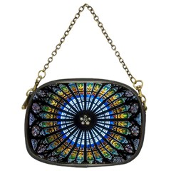 Stained Glass Rose Window In France s Strasbourg Cathedral Chain Purses (Two Sides)