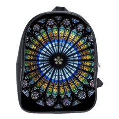 Stained Glass Rose Window In France s Strasbourg Cathedral School Bags(large)