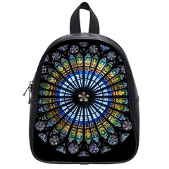 Stained Glass Rose Window In France s Strasbourg Cathedral School Bags (Small)