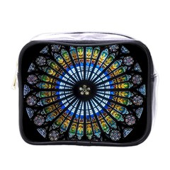 Stained Glass Rose Window In France s Strasbourg Cathedral Mini Toiletries Bags
