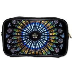 Stained Glass Rose Window In France s Strasbourg Cathedral Toiletries Bags