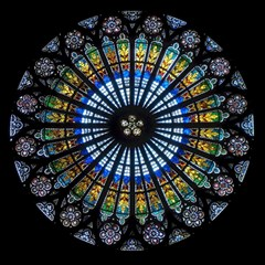 Stained Glass Rose Window In France s Strasbourg Cathedral Magic Photo Cubes