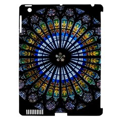 Stained Glass Rose Window In France s Strasbourg Cathedral Apple Ipad 3/4 Hardshell Case (compatible With Smart Cover)