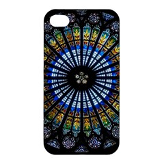 Stained Glass Rose Window In France s Strasbourg Cathedral Apple Iphone 4/4s Premium Hardshell Case
