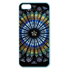 Stained Glass Rose Window In France s Strasbourg Cathedral Apple Seamless Iphone 5 Case (color)