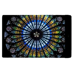 Stained Glass Rose Window In France s Strasbourg Cathedral Apple Ipad 2 Flip Case