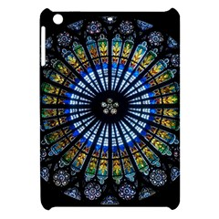 Stained Glass Rose Window In France s Strasbourg Cathedral Apple Ipad Mini Hardshell Case