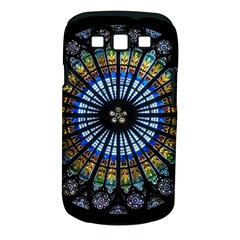 Stained Glass Rose Window In France s Strasbourg Cathedral Samsung Galaxy S Iii Classic Hardshell Case (pc+silicone)
