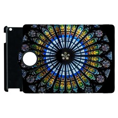 Stained Glass Rose Window In France s Strasbourg Cathedral Apple Ipad 2 Flip 360 Case