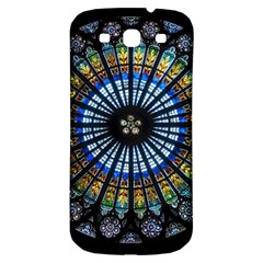 Stained Glass Rose Window In France s Strasbourg Cathedral Samsung Galaxy S3 S Iii Classic Hardshell Back Case