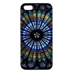 Stained Glass Rose Window In France s Strasbourg Cathedral Apple Iphone 5 Premium Hardshell Case