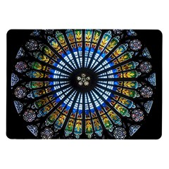 Stained Glass Rose Window In France s Strasbourg Cathedral Samsung Galaxy Tab 10.1  P7500 Flip Case