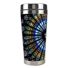 Stained Glass Rose Window In France s Strasbourg Cathedral Stainless Steel Travel Tumblers