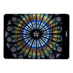 Stained Glass Rose Window In France s Strasbourg Cathedral Samsung Galaxy Tab Pro 10 1  Flip Case