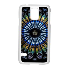 Stained Glass Rose Window In France s Strasbourg Cathedral Samsung Galaxy S5 Case (White)