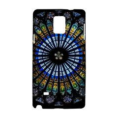Stained Glass Rose Window In France s Strasbourg Cathedral Samsung Galaxy Note 4 Hardshell Case