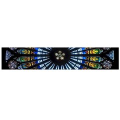 Stained Glass Rose Window In France s Strasbourg Cathedral Flano Scarf (Large)