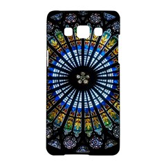 Stained Glass Rose Window In France s Strasbourg Cathedral Samsung Galaxy A5 Hardshell Case
