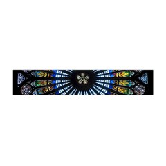 Stained Glass Rose Window In France s Strasbourg Cathedral Flano Scarf (mini)